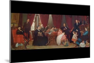 The Hatch Family-Eastman Johnson-Mounted Art Print