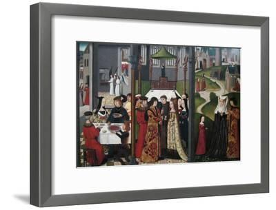 The Life and Miracles of Saint Godelieve, Polyptych, Last Quarter of 15th Century--Framed Art Print
