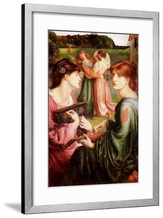 The Bower Meadow-Dante Gabriel Rossetti-Framed Art Print