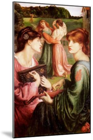 The Bower Meadow-Dante Gabriel Rossetti-Mounted Art Print