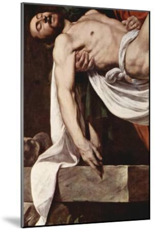Putting Christ in the Tomb-Caravaggio-Mounted Art Print