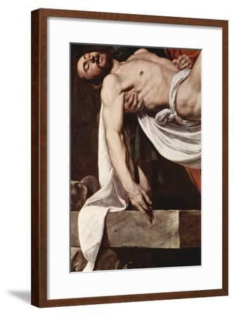 Putting Christ in the Tomb-Caravaggio-Framed Art Print