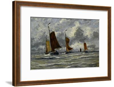 Ships at Full Sea-Hendrik William Mesdag-Framed Art Print