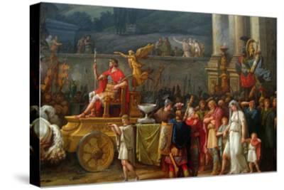The Triumph of Aemilius Paulus,-Antoine Charles Horace Vernet-Stretched Canvas Print
