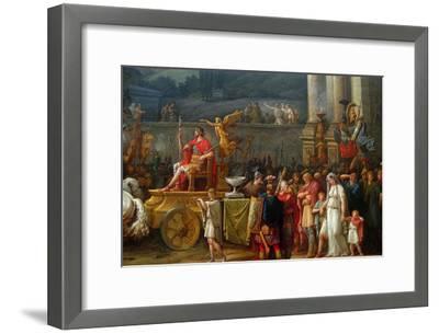 The Triumph of Aemilius Paulus,-Antoine Charles Horace Vernet-Framed Art Print
