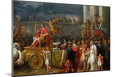 The Triumph of Aemilius Paulus,-Antoine Charles Horace Vernet-Mounted Art Print