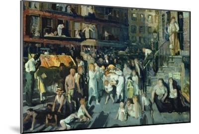 Cliff Dwellers-George Bellows-Mounted Art Print