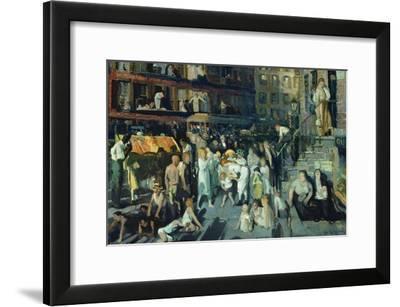 Cliff Dwellers-George Bellows-Framed Art Print