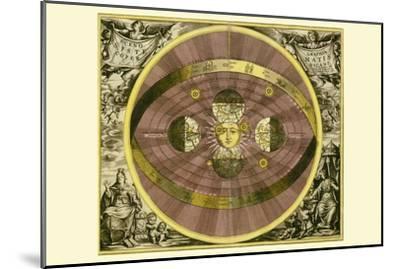 Sceno Systematis Copernicani-Andreas Cellarius-Mounted Art Print
