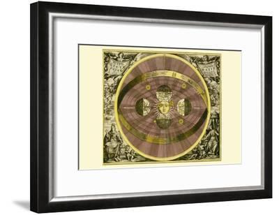 Sceno Systematis Copernicani-Andreas Cellarius-Framed Art Print