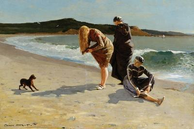 Eagle Head, Manchester, Massachusetts at High Tide-Winslow Homer-Stretched Canvas Print