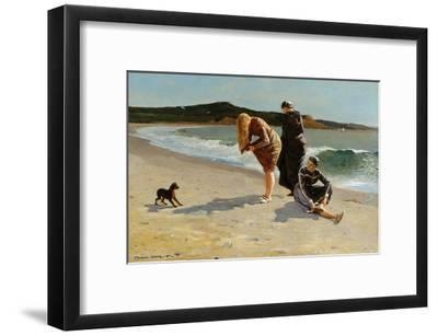 Eagle Head, Manchester, Massachusetts at High Tide-Winslow Homer-Framed Art Print