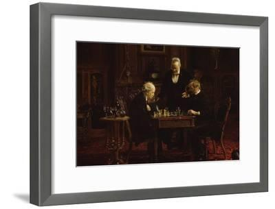 The Chess Players-Thomas Cowperthwait Eakins-Framed Art Print