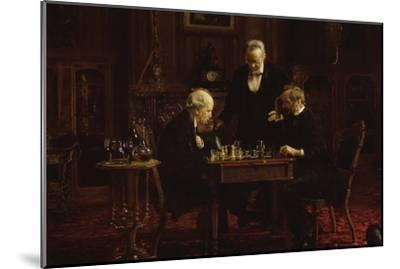 The Chess Players-Thomas Cowperthwait Eakins-Mounted Art Print