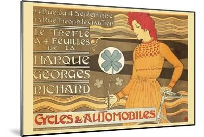 Cycles and Automobile by Marque George Richard-Alphonse Mucha-Mounted Art Print