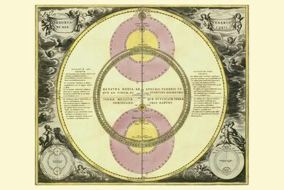 Theoria Veneris-Andreas Cellarius-Stretched Canvas Print