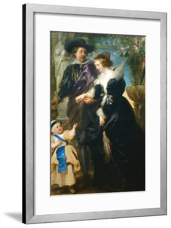 Rubens, His Wife Helena Fourment and One of the their Children-Peter Paul Rubens-Framed Art Print