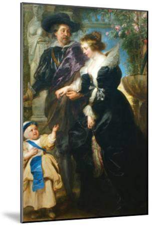 Rubens, His Wife Helena Fourment and One of the their Children-Peter Paul Rubens-Mounted Art Print