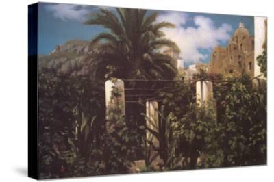 Garden, Capri Italy-Frederick Leighton-Stretched Canvas Print