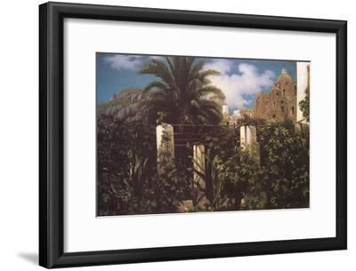 Garden, Capri Italy-Frederick Leighton-Framed Art Print