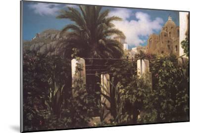 Garden, Capri Italy-Frederick Leighton-Mounted Art Print