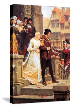 Call to Arms-Edmund Blair Leighton-Stretched Canvas Print