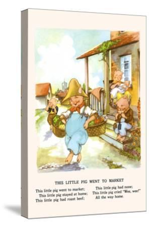 This Little Pig Went to Market-Bird & Haumann-Stretched Canvas Print