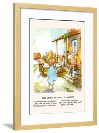 This Little Pig Went to Market-Bird & Haumann-Framed Art Print