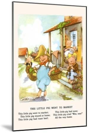 This Little Pig Went to Market-Bird & Haumann-Mounted Art Print