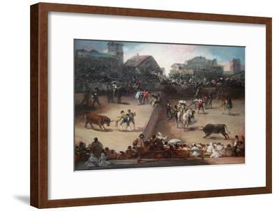 Bull Fight in a Divided Ring-Francisco de Goya-Framed Art Print