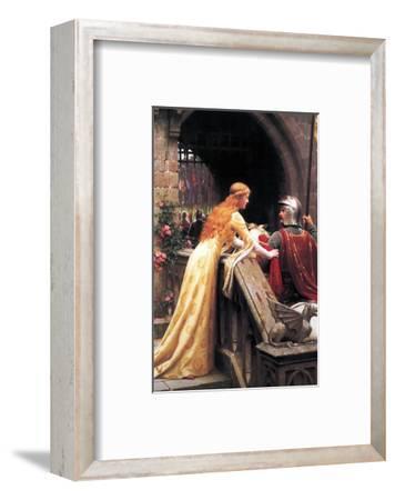God Speed Fair Knight-Edmund Blair Leighton-Framed Premium Giclee Print