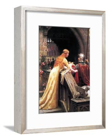 God Speed Fair Knight-Edmund Blair Leighton-Framed Art Print