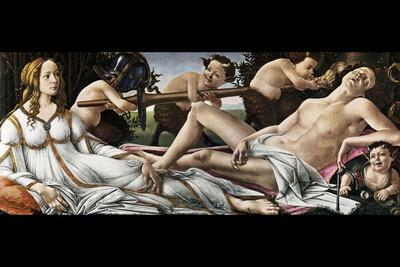 Venus and Mars-Sandro Botticelli-Stretched Canvas Print