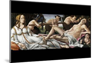 Venus and Mars-Sandro Botticelli-Mounted Art Print