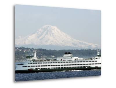 Mount Rainier-Ted S^ Warren-Metal Print