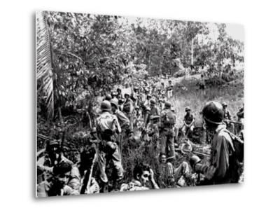 WWII Guadalcanal U.S. Marines--Metal Print