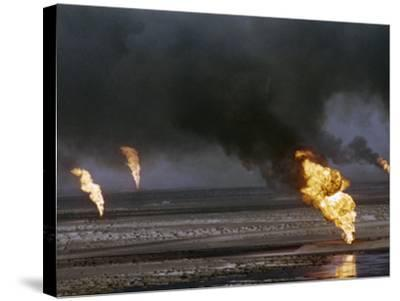 Kuwait Oil Fire--Stretched Canvas Print