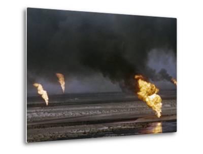 Kuwait Oil Fire--Metal Print