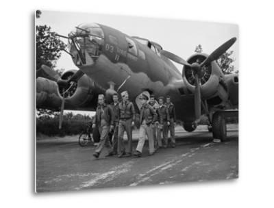 WWII Flying Fortress Crew 1942--Metal Print