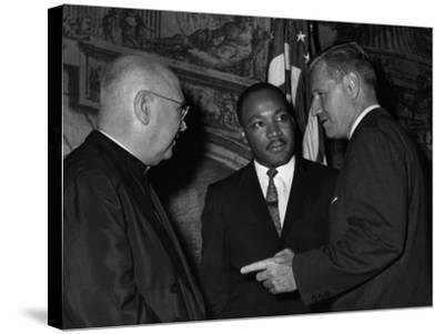 MLK Spellman Rockefeller 1962-Associated Press-Stretched Canvas Print