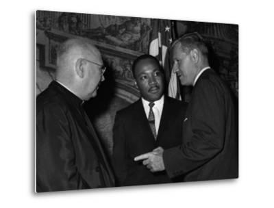 MLK Spellman Rockefeller 1962-Associated Press-Metal Print