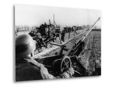 WWII German Anti Aircraft Crew--Metal Print