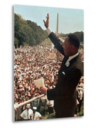 Martin Luther King Jr.-Associated Press-Metal Print