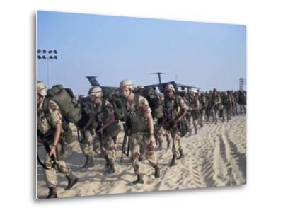 Members of 82nd Airborne-Pool-Metal Print