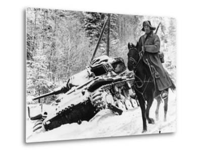 WWII Red Army Cavalry Rider--Metal Print