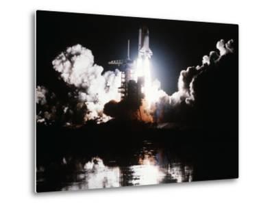 Challenger Liftoff 1983--Metal Print