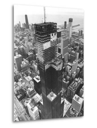 Chicago Sears Tower Topping--Metal Print
