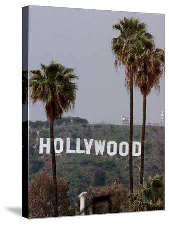 Hollywood Sign-Mark J. Terrill-Stretched Canvas Print