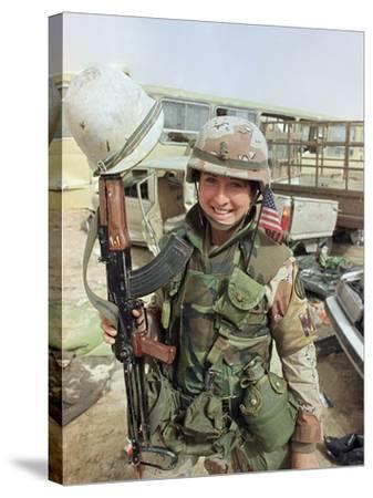 Saudi Arabia Army U.S. Troops Women Tanya Brinkley-David Longstreath-Stretched Canvas Print