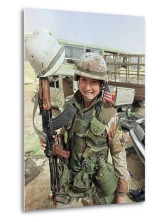Saudi Arabia Army U.S. Troops Women Tanya Brinkley-David Longstreath-Metal Print